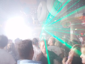 lazers across the dance floor at Eden in Ibiza