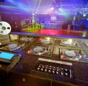 The famous dj decks at Ministry Of Sound in London